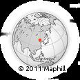 Outline Map of Danianzi, rectangular outline