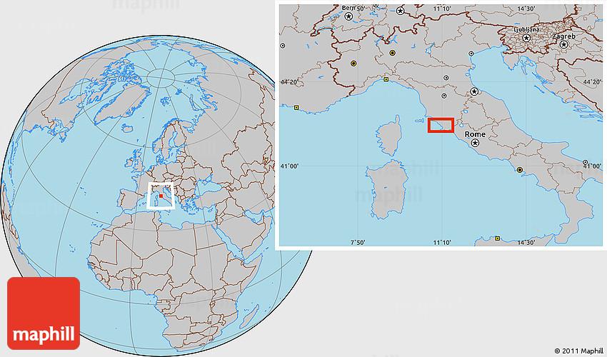 Talamone Italy Map.Gray Location Map Of Talamone