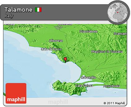 Talamone Italy Map.Free Political Panoramic Map Of Talamone