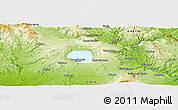 """Physical Panoramic Map of the area around 42°35'40""""N,11°58'29""""E"""