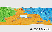 """Political Panoramic Map of the area around 42°35'40""""N,11°58'29""""E"""