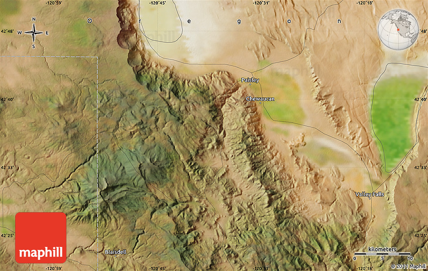 Satellite Map of Paisley