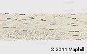 "Shaded Relief Panoramic Map of the area around 42° 35' 40"" N, 125° 1' 30"" E"