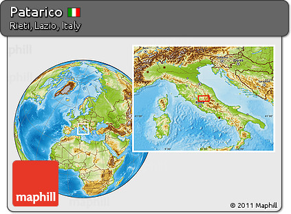 Rieti Italy Map.Free Physical Location Map Of Patarico