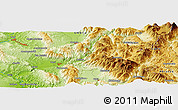 """Physical Panoramic Map of the area around 42°35'40""""N,12°49'29""""E"""