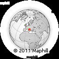 Outline Map of L'Aquila, rectangular outline