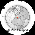 Outline Map of Francavilla Al Mare, rectangular outline