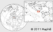 Blank Location Map of Trebinje
