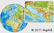 Physical Location Map of Trebinje