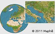 Satellite Location Map of Trebinje