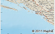 Shaded Relief Map of Dubrovnik