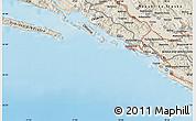 Shaded Relief Map of Trebinje