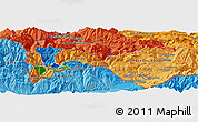 Political Panoramic Map of Ordino