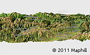 Satellite Panoramic Map of Canillo