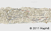 Shaded Relief Panoramic Map of Ordino