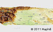 Physical Panoramic Map of Bečić