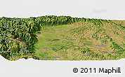 Satellite Panoramic Map of Begaj