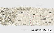 Shaded Relief Panoramic Map of Bakaj