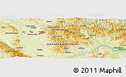 """Physical Panoramic Map of the area around 42°35'40""""N,21°19'30""""E"""