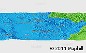 """Political Panoramic Map of the area around 42°35'40""""N,21°19'30""""E"""