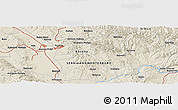 """Shaded Relief Panoramic Map of the area around 42°35'40""""N,21°19'30""""E"""