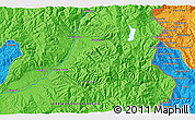 Political 3D Map of Chudintsi