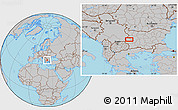 Gray Location Map of Dragomirovo