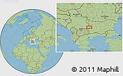 Savanna Style Location Map of Dragomirovo