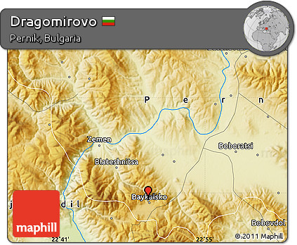 Physical Map of Dragomirovo