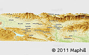 Physical Panoramic Map of Zamukhovo