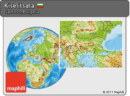 Physical Location Map of Kiselitsata
