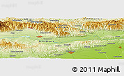 Physical Panoramic Map of Bratya Kunchevi