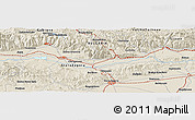Shaded Relief Panoramic Map of Dolno Sakhrane