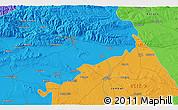 Political 3D Map of Ezero