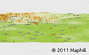 Physical Panoramic Map of Tsenino