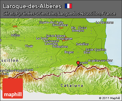 Laroque Des Alberes Map Map of Laroque Des Alb Res