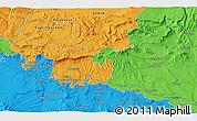 Political 3D Map of Logroño