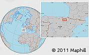 Gray Location Map of Logroño