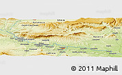 Physical Panoramic Map of El Cortijo