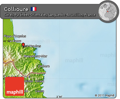 Free Physical Map of Collioure