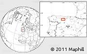 Blank Location Map of Congosto de Valdavia