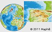 Physical Location Map of Congosto de Valdavia