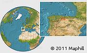 Satellite Location Map of Congosto de Valdavia
