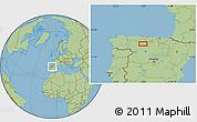 Savanna Style Location Map of Congosto de Valdavia