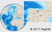 Shaded Relief Location Map of Congosto de Valdavia
