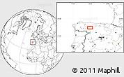 Blank Location Map of La Robla