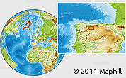 Physical Location Map of La Robla