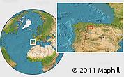 Satellite Location Map of La Robla
