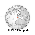 Outline Map of La Robla, rectangular outline