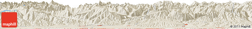 """Shaded Relief Horizon Map of the Area around 42° 35' 40"""" N, 74° 1' 30"""" E"""